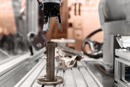 Robotic arm closeup photo