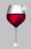 Full Glass of Red Wine on Transparent Background Vector Illustra