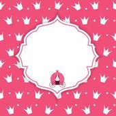 Princess Crown  Background Vector Illustration