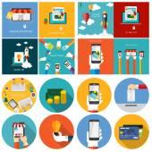 Pay Per Click Online Shopping Business Start Up Team Work Fla