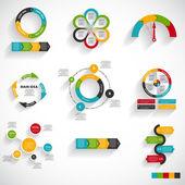Kolekce infographic šablon pro obchodní firmu illustra vektor