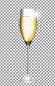 Glass of Champagne Vector Illustration EPS10