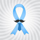 Prostate Cancer Awareness Blue Ribbon Vector Illustration