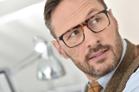 man wearing  eyeglasses