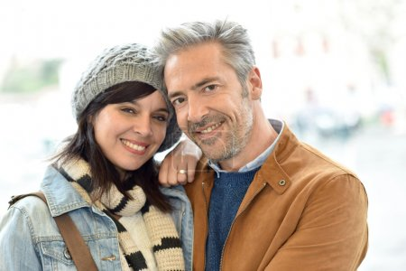 Photo for Mature couple on a romantic date - Royalty Free Image