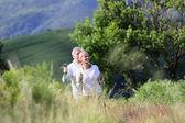 Senior people hiking