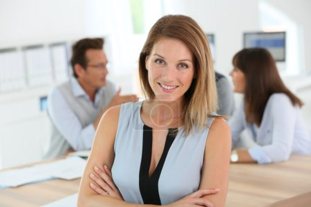 Photo for Portrait of beautiful woman attending business meeting - Royalty Free Image