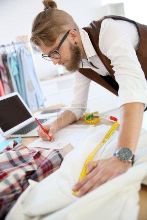 Fashion designer in workshop