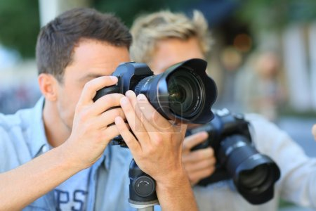 Men on photography training day