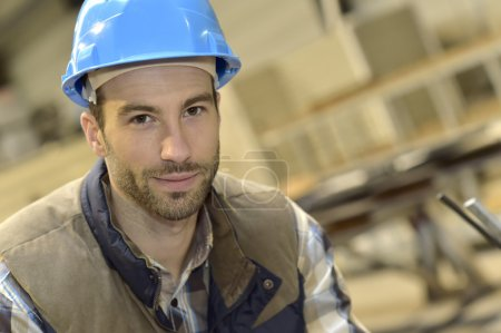 Photo for Portrait of industrial engineer wearing safety helmet - Royalty Free Image