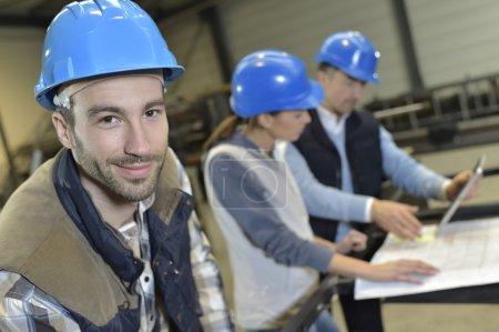 Industrial engineer with collegians