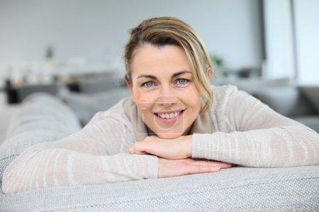 Mature smiling woman