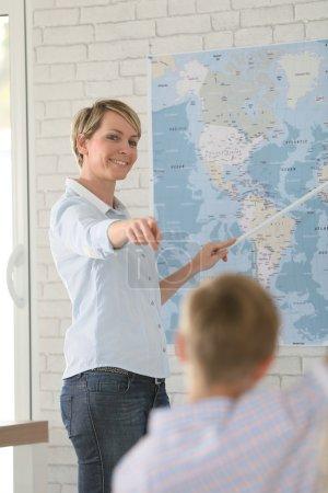 Geografía de enseñanza del profesor