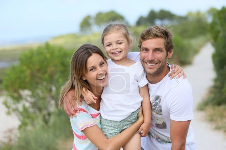 Photo for Portrait of happy family having fun together - Royalty Free Image