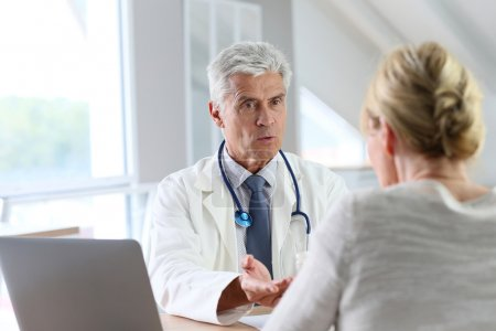 Doctor having consultation with patient