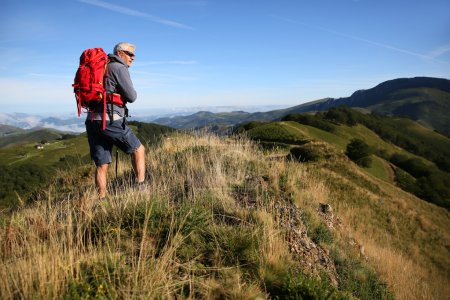Senior Hiker in Basque country