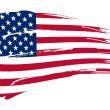 American flag background fully editable vector ill...