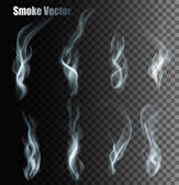 Set Of Transparent Different Smoke Vectors