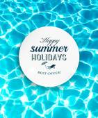 Summer holidays background with beautiful sea water Vector