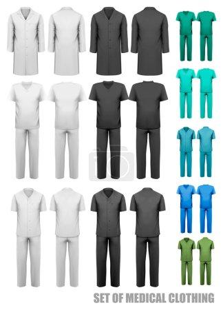 Illustration for Set of medical clothes. Design template. Vector illustration. - Royalty Free Image
