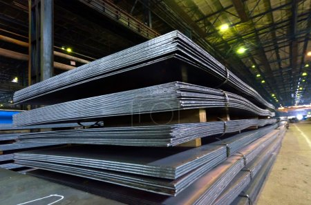 Photo for Stack of steel sheet - Royalty Free Image