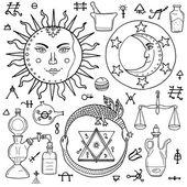 Slunce, měsíc, Ouroboros a filosofického kamene