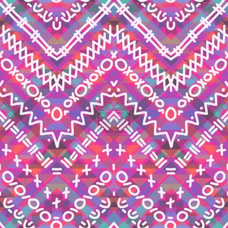 Photo pour Modèle géométrique coloré sans couture, illustration - image libre de droit