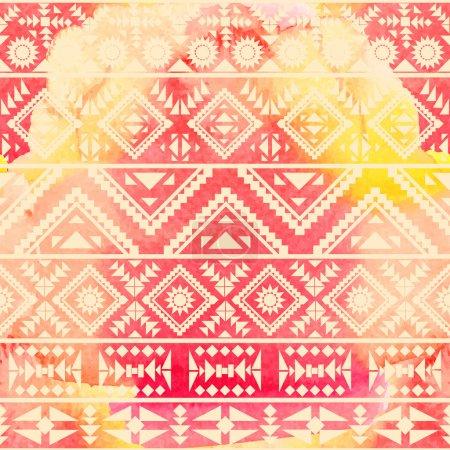 Photo for Ethnic chevron geometric pattern background - Royalty Free Image