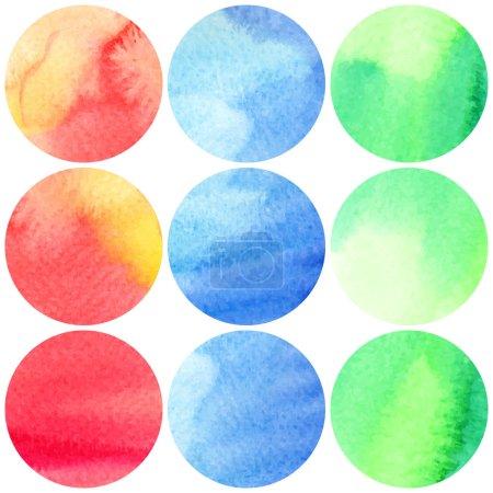 watercolor spots Set