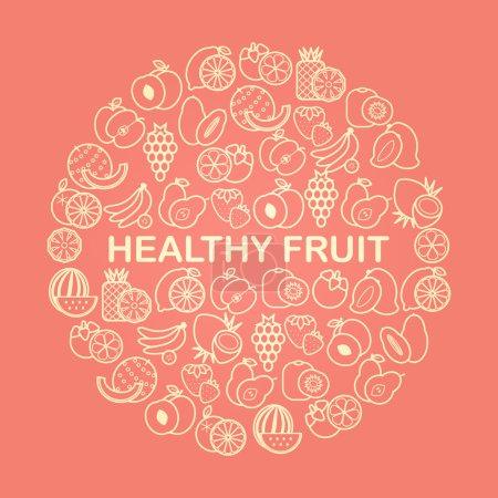Fruits variety background