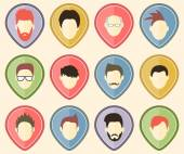 Set from 12 user icons