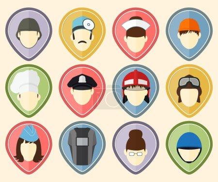 Photo pour Set de 12 icônes utilisateur pour site web et réseau social - image libre de droit