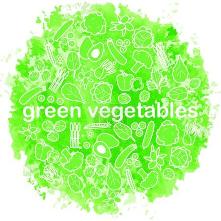 sketched vegetables background