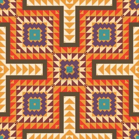 Seamless colorful navajo pattern