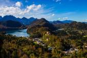 Lower castle and lake in Neuschwanstein, in Bavaria, Germany