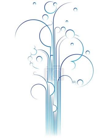 Illustration for Elegant flourish gushing out, vector design element - Royalty Free Image