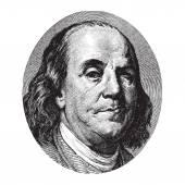 Benjamin Franklin winking