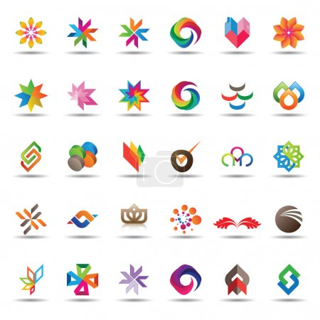 Illustration for Large set of colorful and trendy icons - Royalty Free Image
