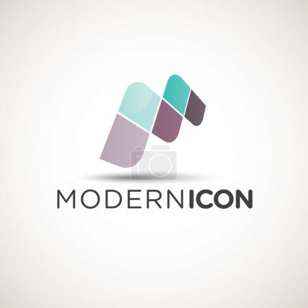 Modern Letter M Icon