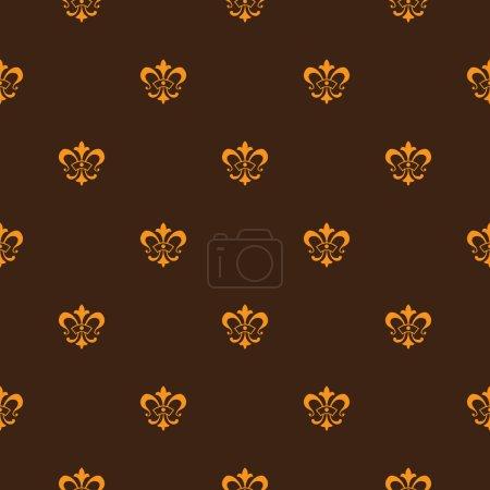 Lis de fleur seamless pattern