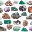 Set of various natural mineral stones - various mi...