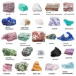 Various raw decorative gemstones and minerals with...