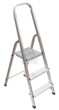 Short stepladder isolated on white