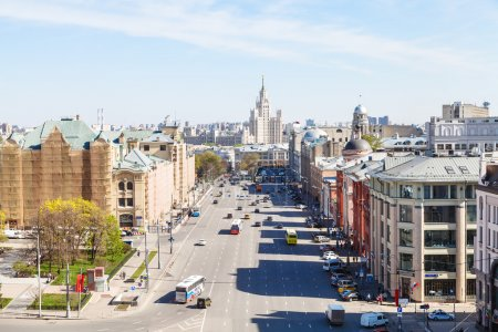 Panorama of Lubyanka Square in Moscow