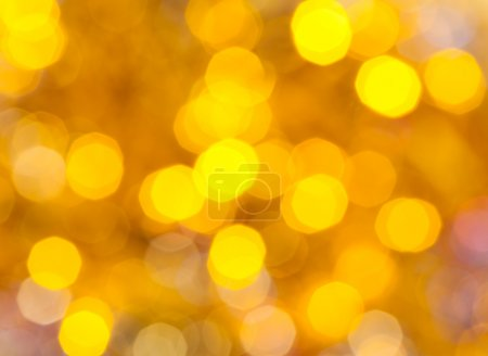 yellow blurred shimmering Christmas lights