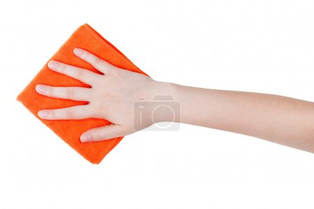 top view of hand with orange