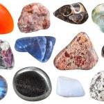 Постер, плакат: Various tumbled ornamental gem stones isolated