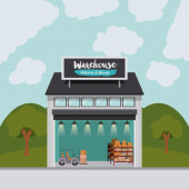Dodávky a skladování skladu design