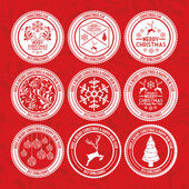 Christmas design over red backgroundvector illustration