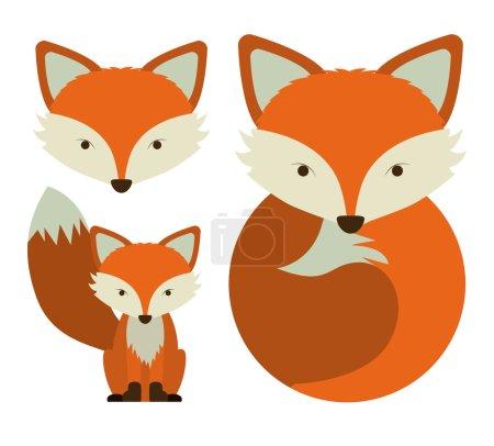 Illustration pour Design animal sur fond blanc, illustration vectorielle - image libre de droit